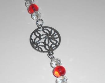 Beaded Flower design Charm zipper pull knitting marker planner charm phone key chain