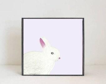 bunny art woodland nursery art- bunny rabbit art print- forest animals- nursery woodland art- animal print- nursery forest redtilestudio