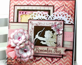 Remember This Valentine Greeting Card Polly's Paper Studio Handmade
