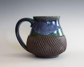 Pottery Coffee Mug, 15 oz, handmade ceramic cup, handthrown mug, ceramic stoneware pottery mug unique coffee mug ceramics and pottery