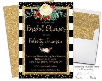 Winter Bridal Shower Invitations - Winter Bridal Shower Invite - Engagement Party Invitation - Engagement Invitation - Christmas Wedding