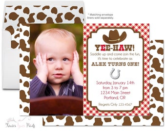 Cowboy Birthday Invitation - Cowboy Invitation - Cowboy Invite - Cowboy Party Invite - Birthday Invitation Boy - Rodeo Party - Western