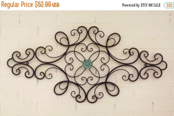 ON SALE Scrolled Wrought Iron // Shabby Chic //Wrought Iron