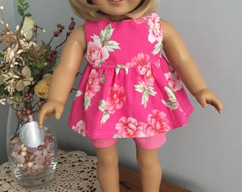 American Girl Doll Clothes - Brightly Flowered Shorts Outfit