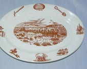 Wallace China vintage platter - 49er pattern