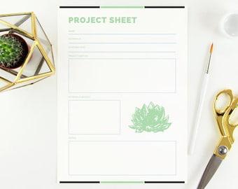 Project Management Sheet PDF