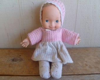 Adorable Uneeda Cloth Baby Doll 1980's