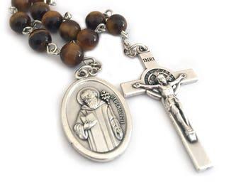 St Benedict Catholic Rosary Beads One Decade