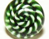 Antique Button ~ Glass Button ~ Paperweight Button ~ Diminutive Glass Button