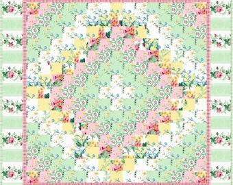 Monet Eight Trip Quilt ePattern, 2147-26e, wall quilt pattern, stripped pieced pattern, wall quilt, table mat quilt, julias garden
