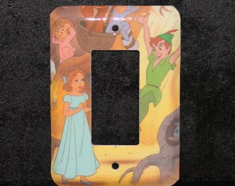Disney Peter Pan and Wendy Vintage Book Switch Plate Outlet Wallplate Light Cover Toggle Decora