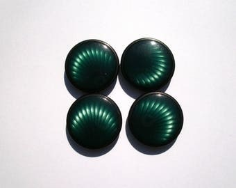 set of 4 green and black buttons 2.5. No. 5 CMS