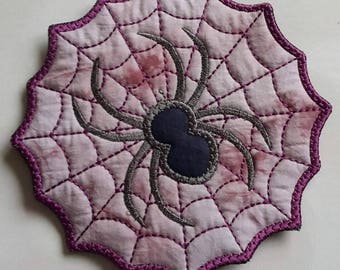 Spider's Web fabric, larger size, coaster, padded, Halloween, table decor, gift, fun decoration