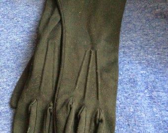 Vintage Black Gloves