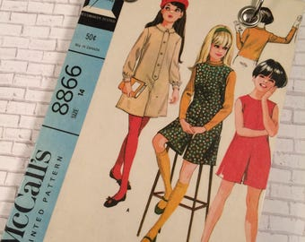 Recycled Notebook - Upcycled Vintage Sewing Pattern - Girl's Retro Fashion - 1960's - Refillable Notepad