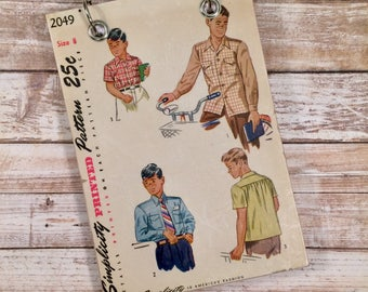 Recycled Notebook - Upcycled Vintage Sewing Pattern - Refillable Notepad - Boy's Retro Fashion