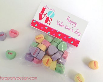 Valentines Day Folding Cards- All you need is LOVE Theme Non Personalized Tags by Fara Party Design | Valentine's Day| School Class