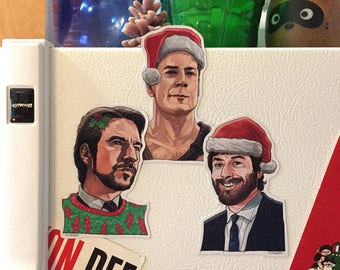 DIE HARD Christmas Fridge Magnet SET!