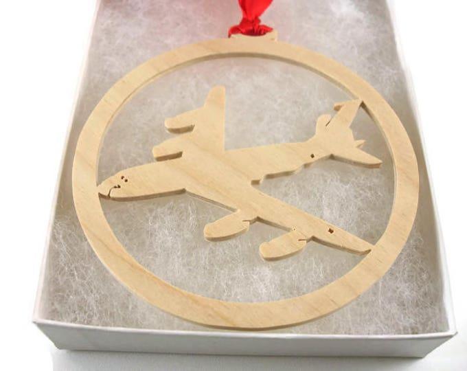 Boeing KC-135 Stratotanker Christmas Tree Ornament Handmade From Birch Wood By KevsKrafts