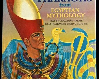 GODS AND PHARAOHS from Egyptian Mythology, 1st American Ed., Hardback, Dust Jacket, Illustrated, 1983