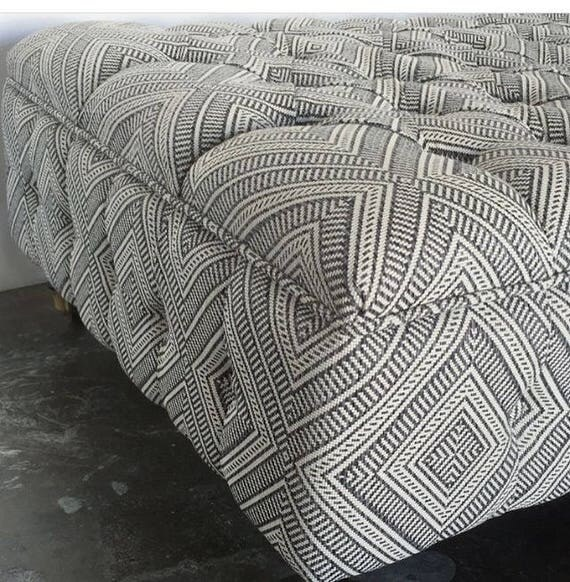 Fully Tufted Storage Ottoman - Design Your Own To Suit Your Space