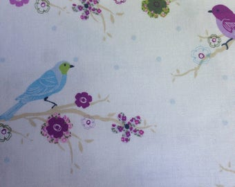 Birds on a Blooming Branch - Fabric - Cotton BTY