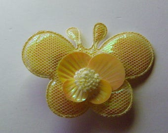 Yellow Butterfly Hair Clip  1111