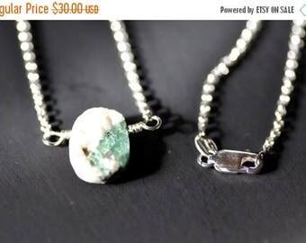 ON SALE sunken emerald necklace