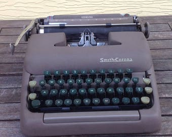 "FLASH SALE! 25% off when you enter ""25FLASH"" - Vintage Smith Corona Sterling Typewriter"