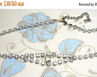 25% Off Vintage Rhinestone Necklace ,Multiple wedding necklaces and earrings available!