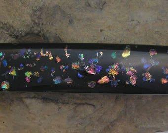 Rainbow Barrette Fused Dichroic Glass Barrette French Barrette