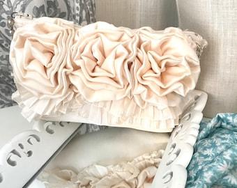 Bridal Clutch, Bridal Purse, White Clutch Bag, White Off White bridal clutch, Vintage wedding