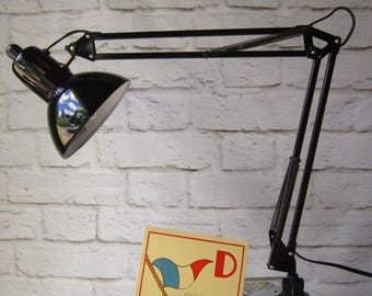 Black Drafting Lamp  Swing Arm Lamp With Clamp Dead Stock