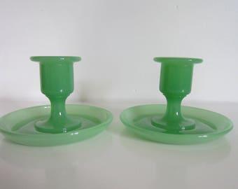 Jadeite Candle Holder, Jadite candle holder