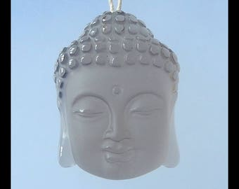 AAA ,Natural Smoky Quartz  Buddha Head  Pendant Bead,34x25x13mm,18.8g(f0778)
