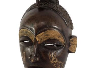 Chokwe Mask Female Mwana Pwo Congo Bird on Top Africa 113238