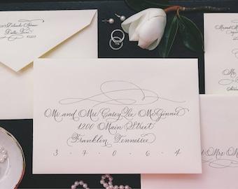 Wedding Calligraphy -- Hand Written Envelope Addressing