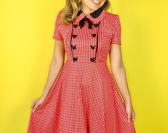 Limited Edition Hidden Mickey Checkered Tie Dress