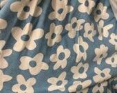 Blue Daisy Cotton Lycra F...