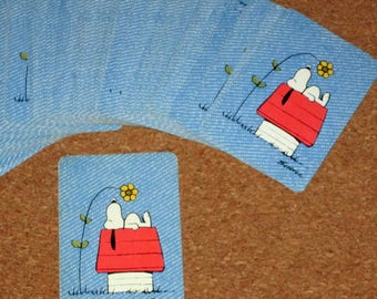 Vintage SNOOPY Peanuts Card Deck Playing Cards Miniature Junior by Hallmark