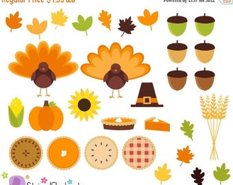 40% OFF SALE Thanksgiving Clipart, Thanksgiving Digital Clip Art - Instant Download - Commercial Use