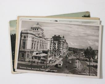 6 Vintage Stockholm Sweden Used Postcards