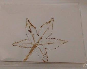 Natural Leaf Blank Card