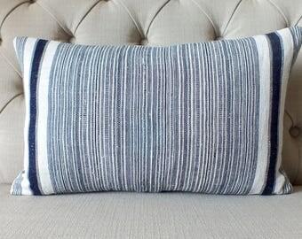 Vintage Hmong Hemp cushion cover, Bolster, Handwoven Hemp Fabric,Scatter cushions