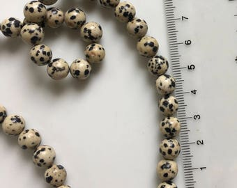 Strand Spotted Dalmatian Agate Round Beads 6mm -B4G