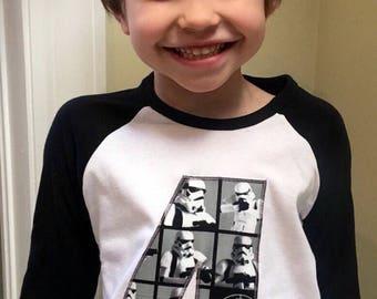 New Custom Star Wars Storm Trooper Number T'shirt