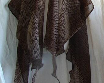 Filmy Open Front Shawl ruana shawls and wraps evening shawls lace shawl ruana wrap prayer shawl scarf shawl bridal shawl fantasy
