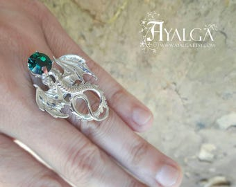 Dragon ring Swarovski