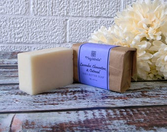 Lavender Clementine & Oatmeal Shea Butter Soap, All Natural, Magdabelle