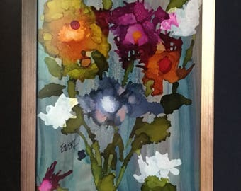 Abstract Flowers - Fine Art - Alcohol Ink